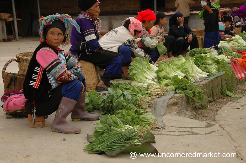 Street-Side Market - Yuanyang, China