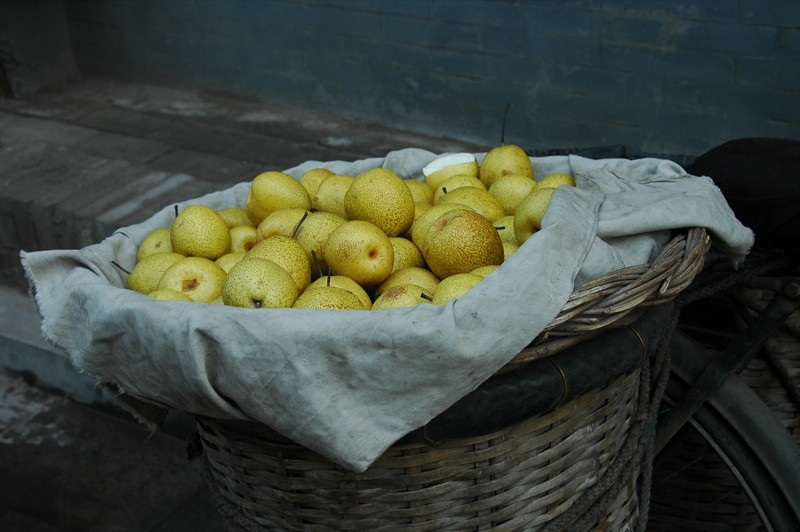 Basket of Pears - Pingyao, China