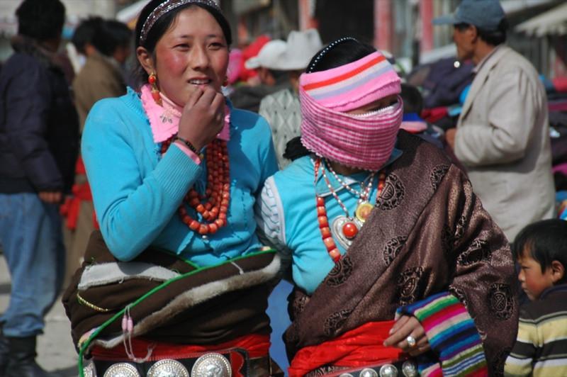Tibetan Women - Xiahe, China