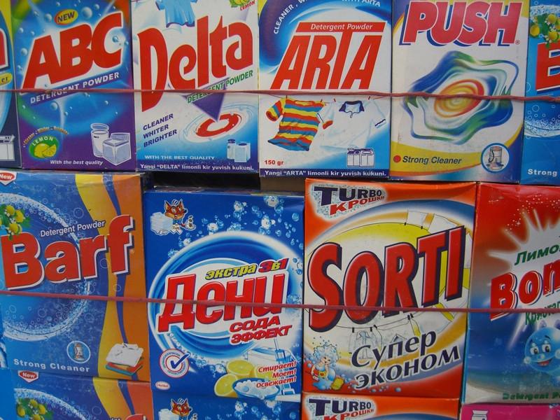 Laundry Detergents - Osh Market, Kyrgyzstan