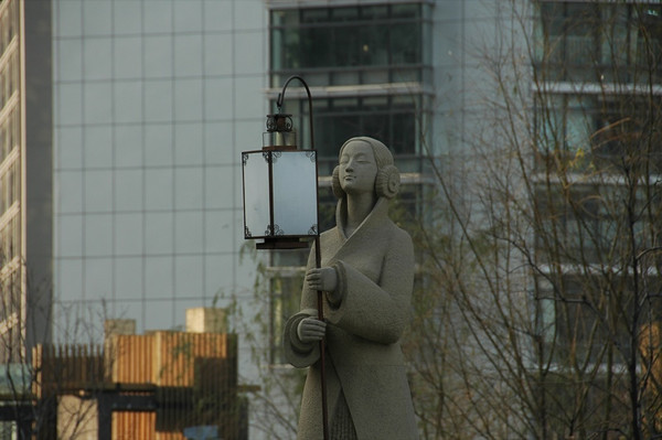 Beijing Statue with a Lamp - Beijing, China