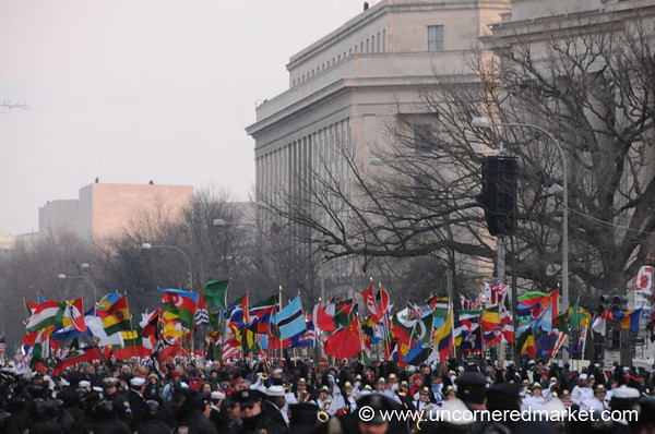Flags from the Peace Corps - Washington DC, USA