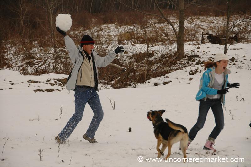 Throwing A Snowball - Scranton, Pennsylvania