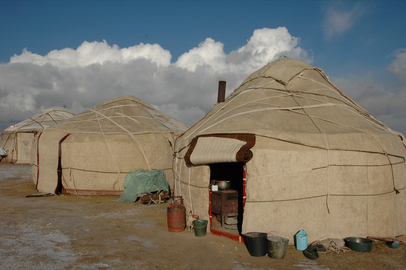 Yurt Neighbors - Song Kul, Kyrgyzstan