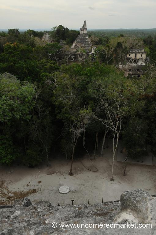 Aerial View of Great Plaza - Tikal, Guatemala
