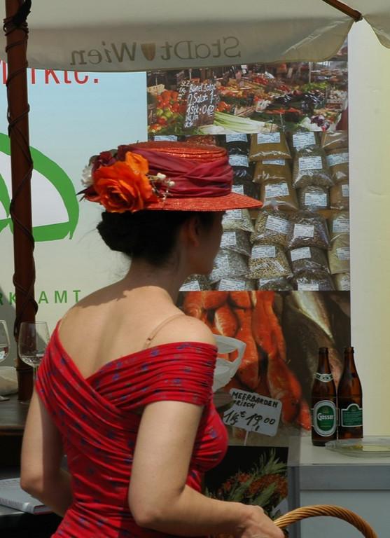 A Lady at Naschmarkt - Vienna, Austria