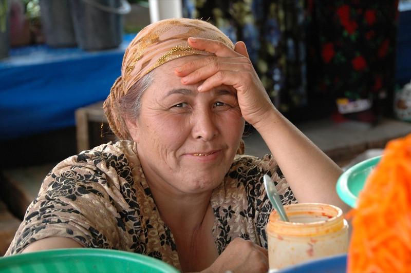 Older Tajik Woman at Shah Mansur Market - Dushanbe, Tajikistan