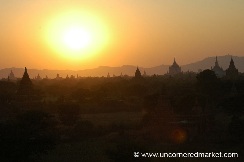 Sunset Layers over Temple - Bagan, Burma