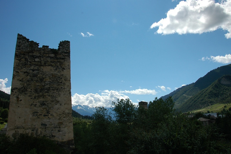Broken Fortress - Svaneti, Georgia