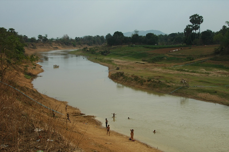 Kids Bathing in the River - Outside Battambang, Cambodia