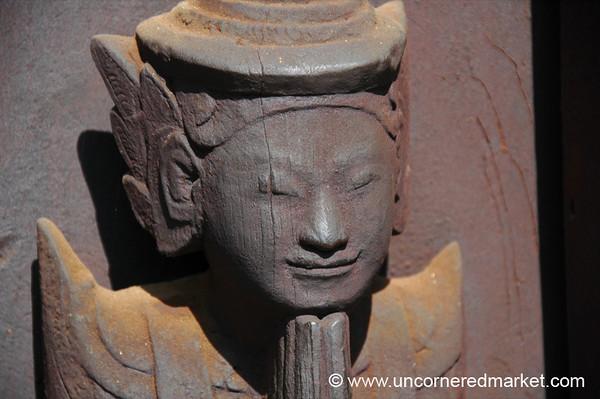 Namaste Carving, Teak Monastery - Mandalay, Burma