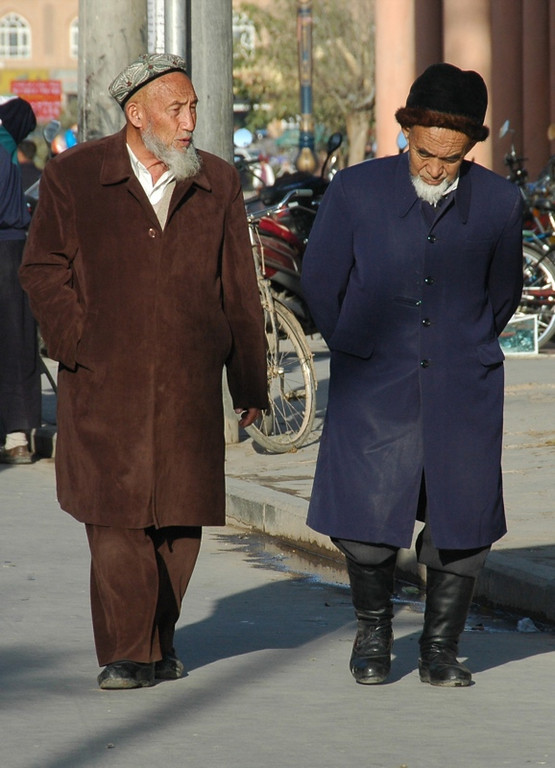 Uighur Men Walking Home - Kashgar, China