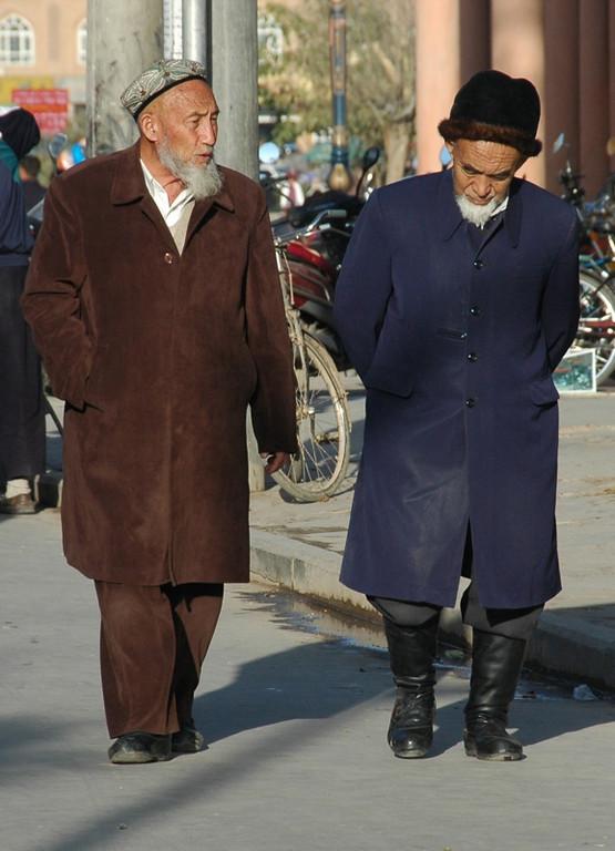 Uighur Men Walking Home - Kashgar, China