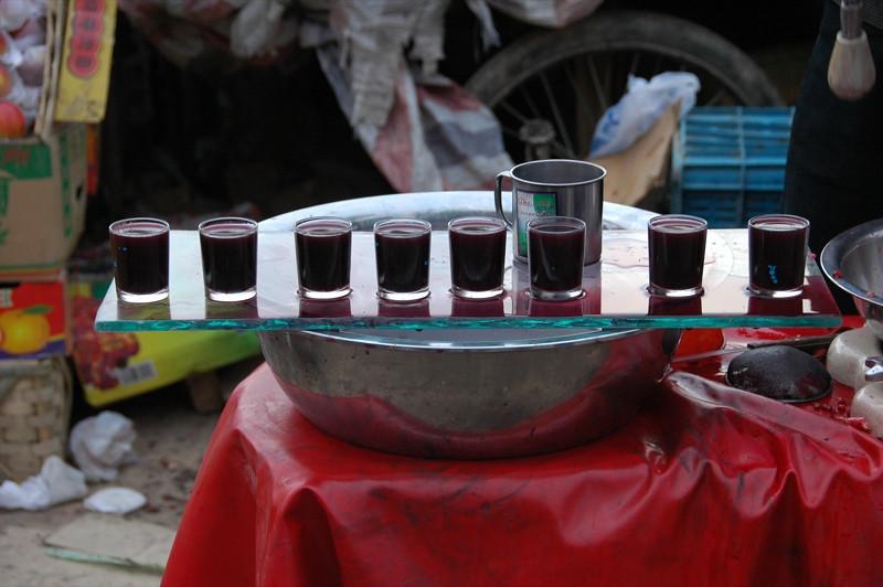 Pomegranate Juice at Kashgar Market, China