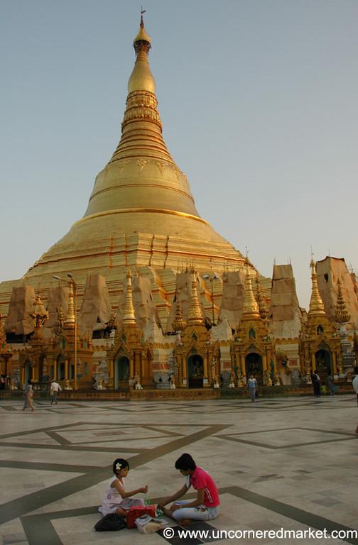 Shwedagon Paya's Main Stupa - Rangoon, Burma (Yangon, Myanmar)