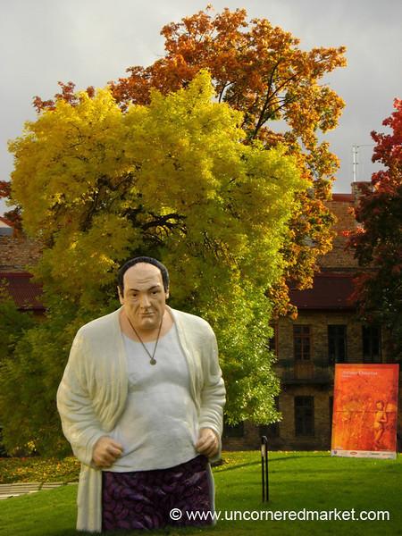 Tony Soprano Statue in Vilnius - Lithuania