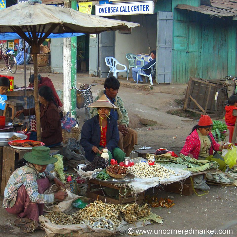 Kalaw Market Vendors - Burma