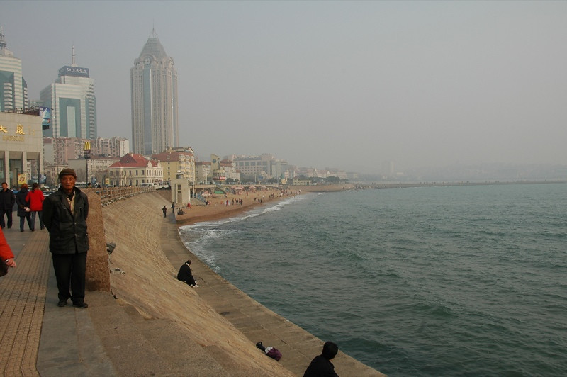 Walking Along Qingdao Coast - China