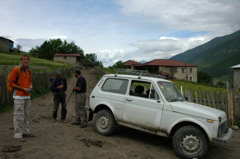 Asking for Directions - Svaneti, Georgia