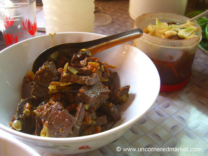 Burmese Food, Blood Bouillon Curry - Toungoo, Burma