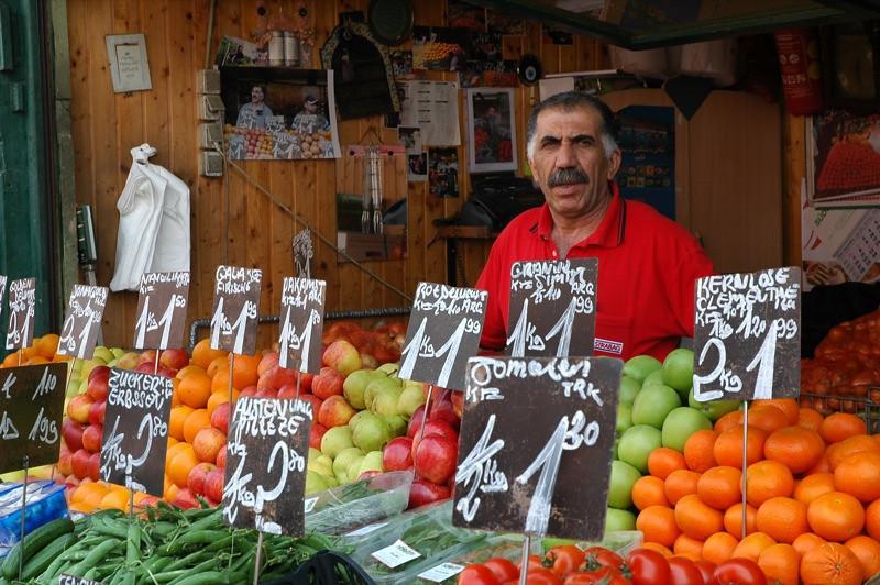 Fruits and Vegetables Vendor - Naschmarkt, Vienna