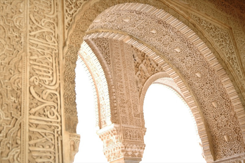 Archways in the Alhambra - Granada, Spain