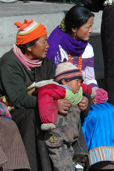 Grandma, Mom and Baby - Xiahe, China