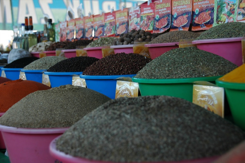 Spices Everywhere at Krytyy Market - Bukhara, Uzbekistan