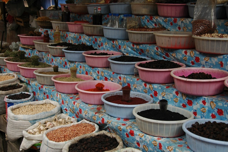 Spices and Grains at the Market - Ismaili, Azerbaijan