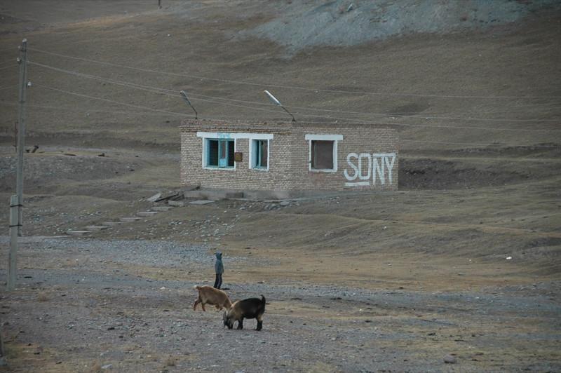 Lone Building - Sary Tash, Kyrgyzstan