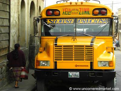 Chicken Bus - Xela, Guatemala