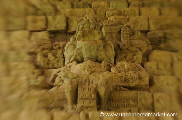 Mayan Ruins, Headless Statue - Copan Ruinas, Honduras