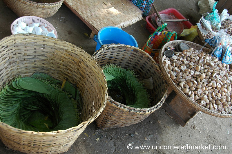 Makings for Paan - Bagan, Burma