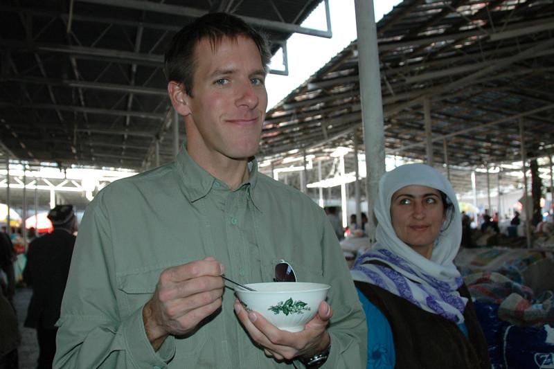Dan Eats Tajik Bean Soup - Dushanbe, Tajikistan