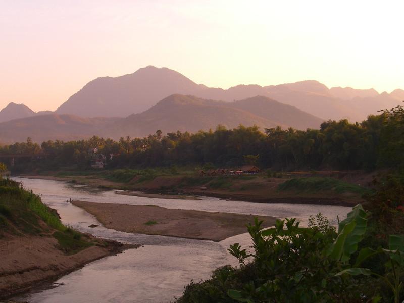 Dusk at Nam Khan - Luang Prabang, Laos