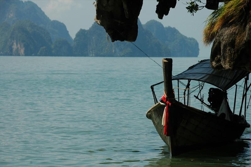 Docked Boat - Phang Nga, Thailand