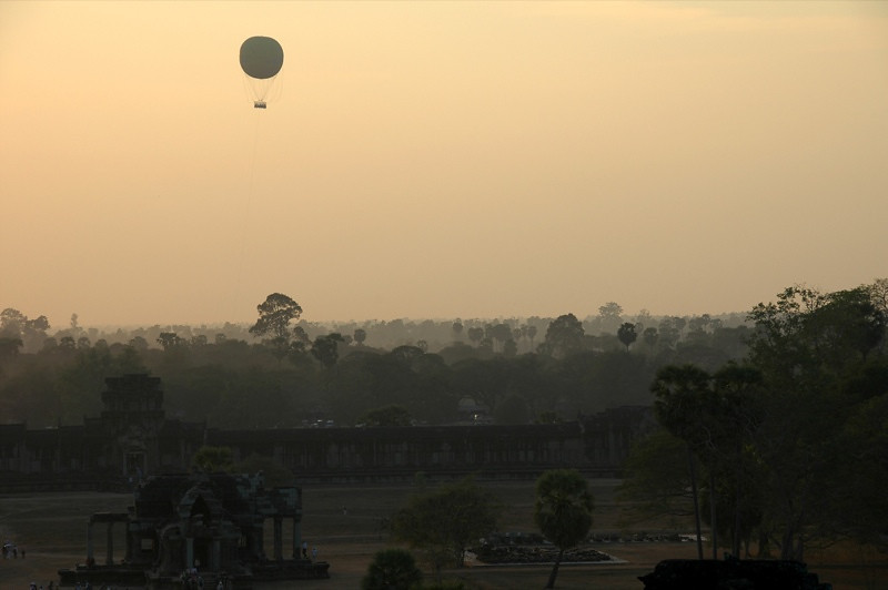 Balloon Over Angkor Wat - Ta Prohm, Cambodia