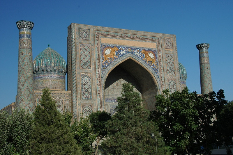 Sher Dor Medressa at the Registan - Samarkand, Uzbekistan