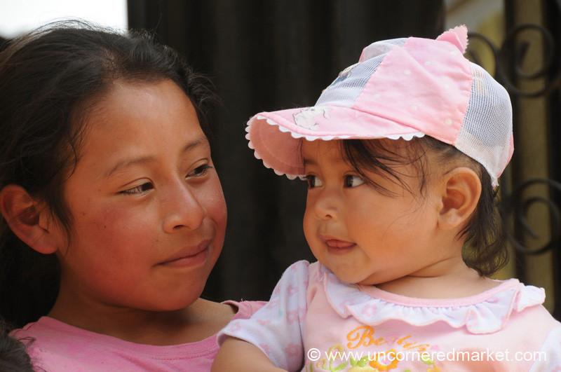 Guatemalan Sisters - San Pedro Sacatepequez, Guatemala