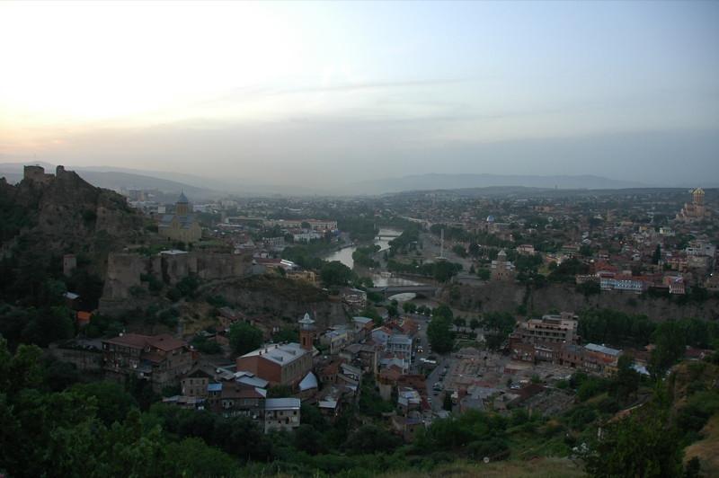 View of Tbilisi at Dusk - Tbilisi, Georgia