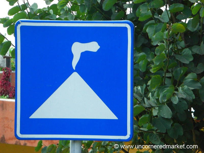 Volcano Sign - Lake Atitlan, Guatemala