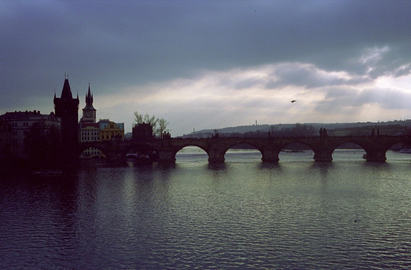 Winter Afternoon, Charles Bridge - Prague, Czech Republic