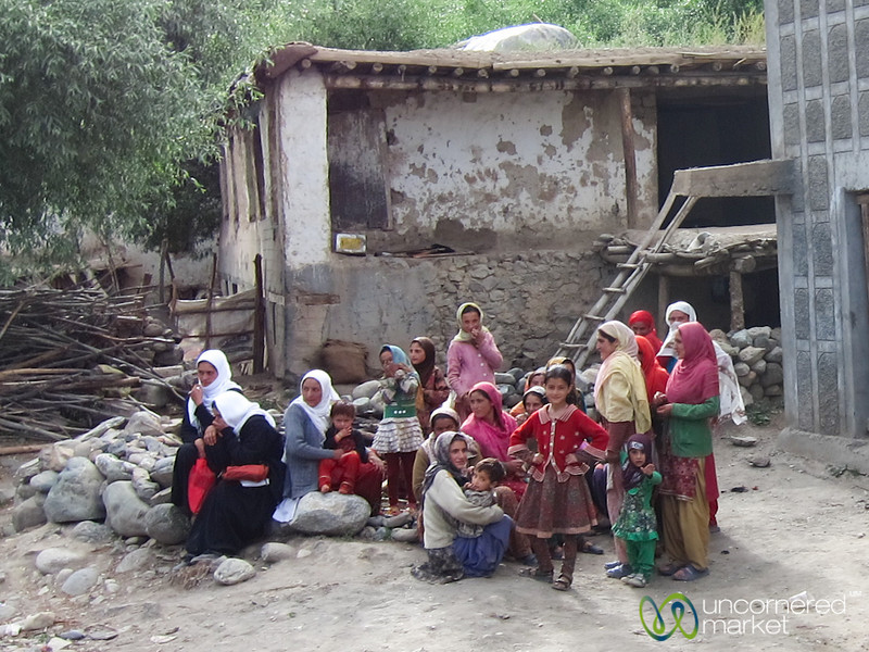Women Wait in a Village, Kashmir to Ladakh