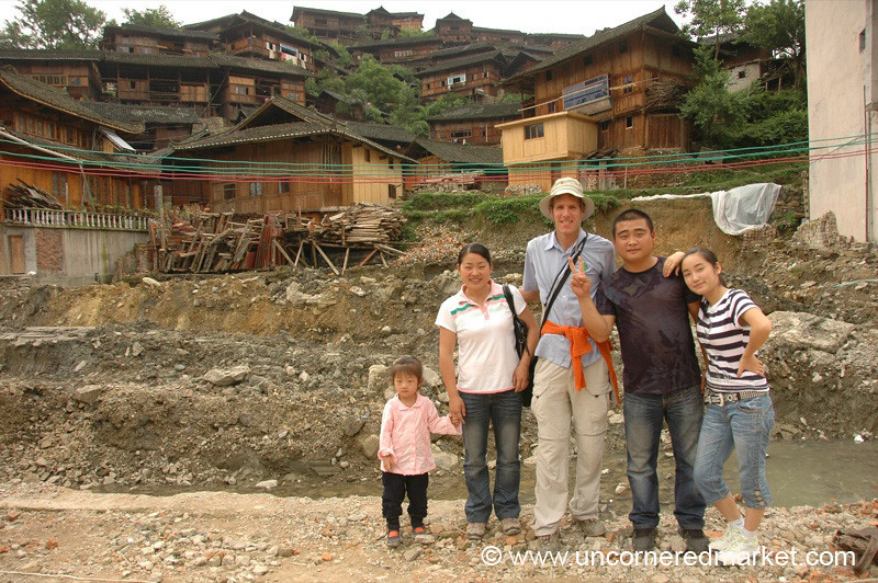 Chinese Tourists and Dan - Guizhou Province, China
