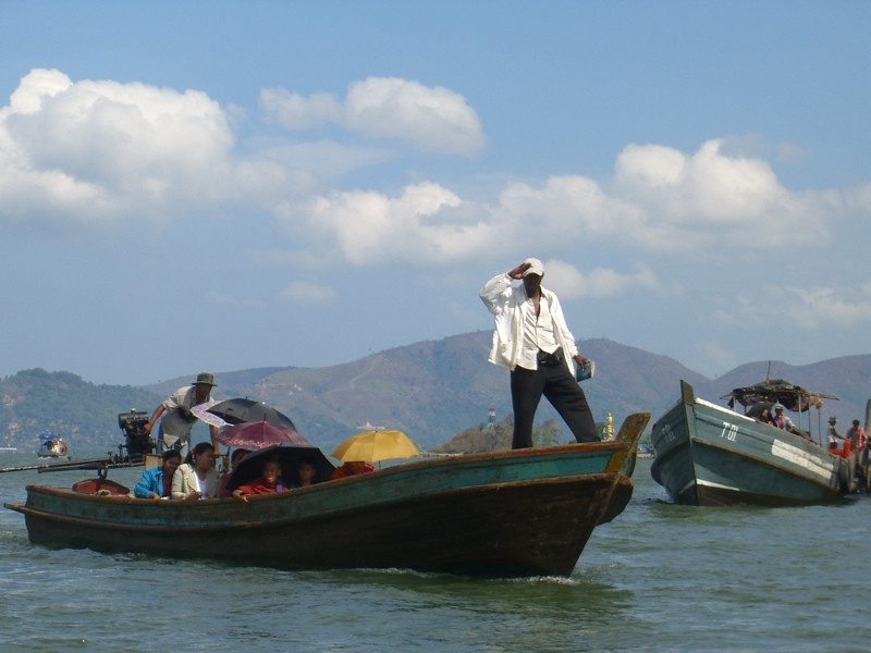Passengers on a Boat to Myanmar - Ranong, Thailand