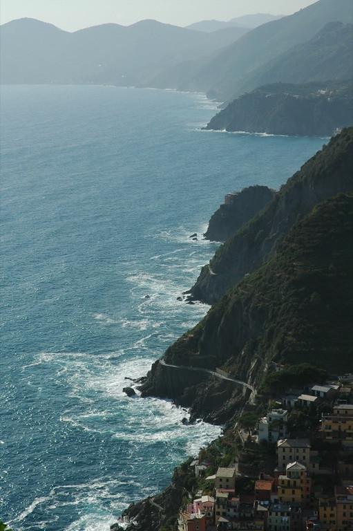Coastline along Cinque Terre, Italy