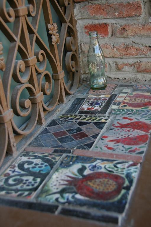 Bottle and Tiles - Tbilisi, Georgia