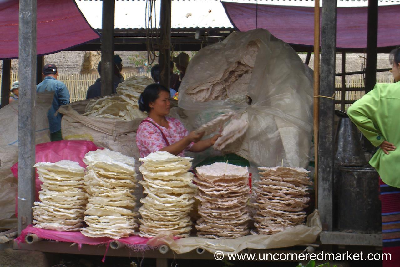 Rice Cakes - Inle Lake, Burma