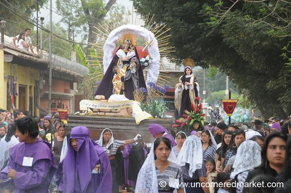 Semana Santa Women's Float - Antigua, Guatemala