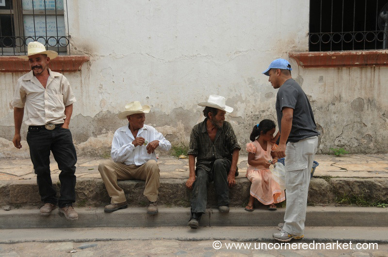 Payment to Locals - Copan Ruinas, Honduras